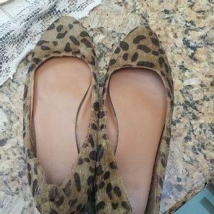 Gap Cheetah Print Fur Shoes
